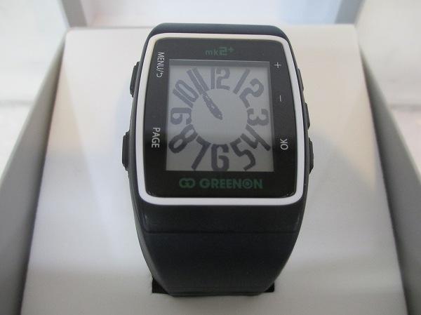 グリーンオンthe golf watch mk2 ゴルフナビ 黒×白